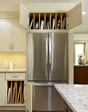 Kitchen-cabinet storage