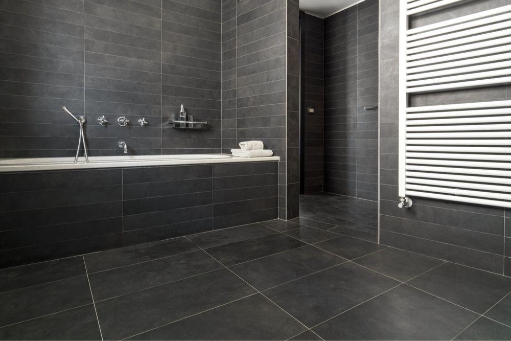 Bathroom with matte finished tiles - 2021 Bathroom Tile Trends