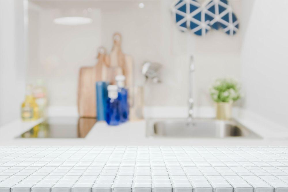 Kitchen with ceramic tile countertop - 7 Best Kitchen Countertop Trends