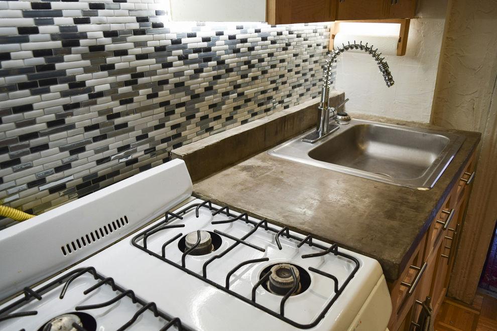 Kitchen with concrete countertops - 7 Best Kitchen Countertop Trends
