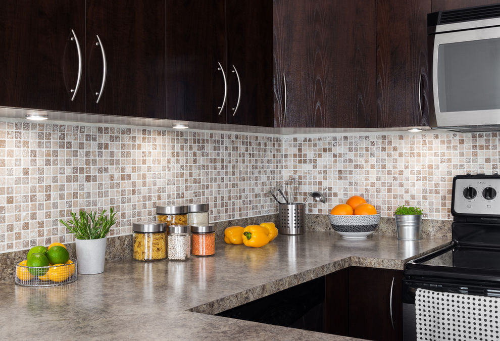 Kitchen with laminate countertops